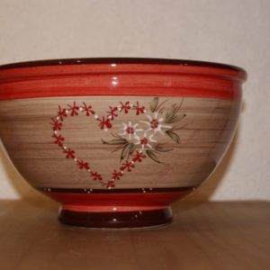 saladier pm poterie artisanale vallauris edelweiss doux